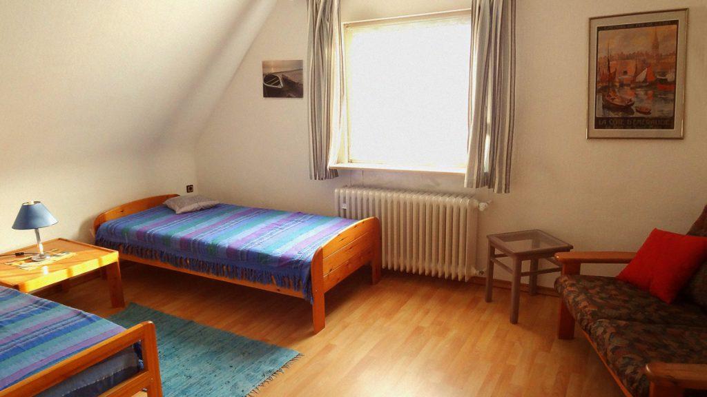Im zweiten Schlafzimmer können zwei weitere Personen übernachten.